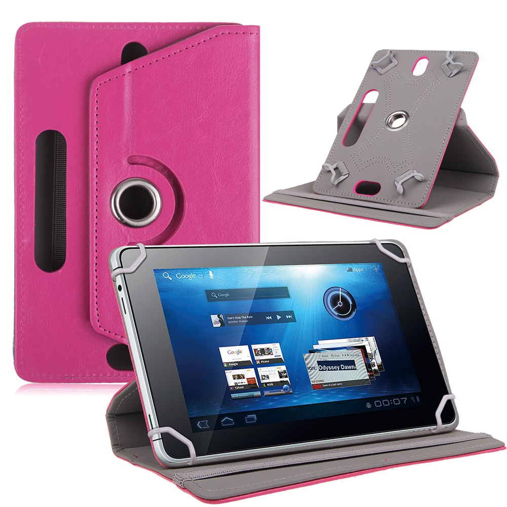 201504: Folio 360° Leather Case Cover For Universal Android Tablet