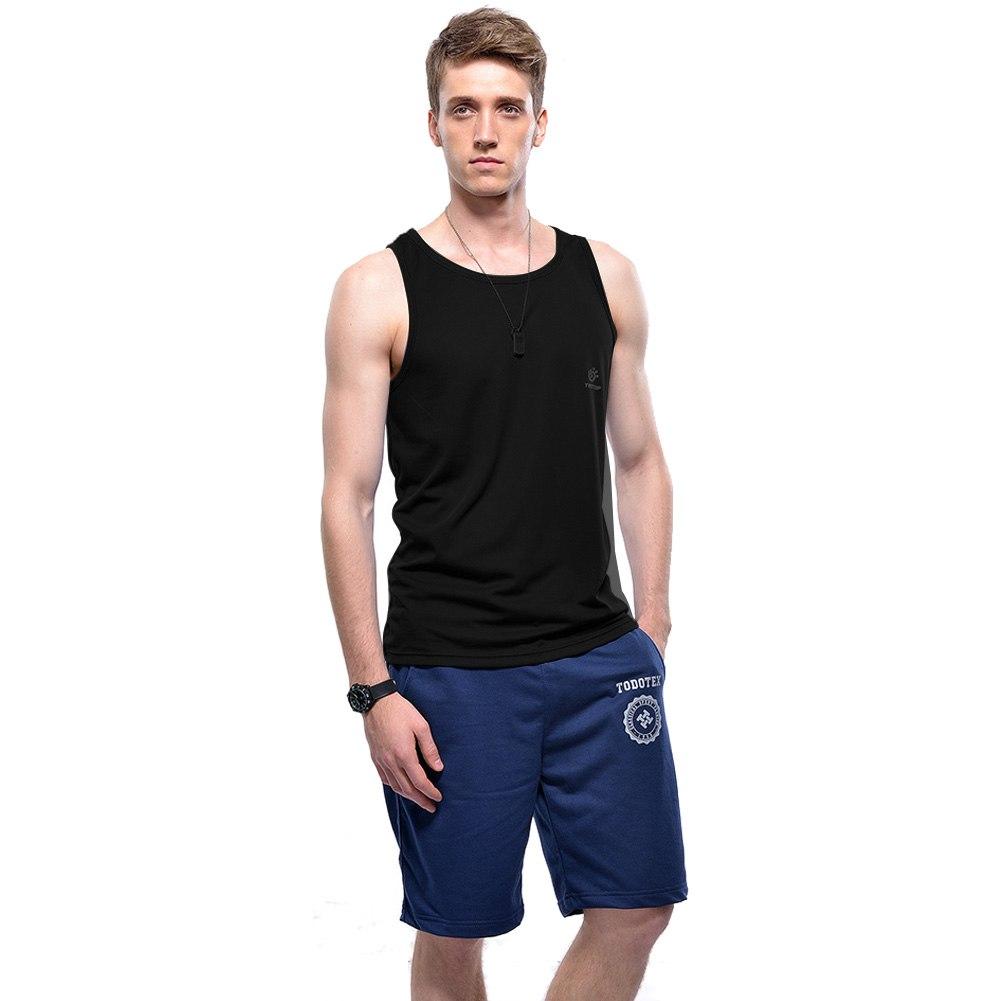 Men t shirt sleeveless tank top sport running bodybuilding for Best mens sport shirts