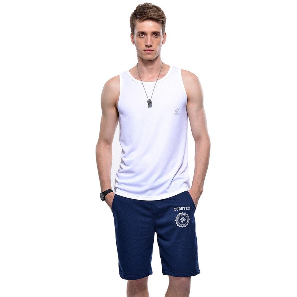 Men 39 s sleeveless muscle vest athletic sport singlet a for Singlet shirt for mens