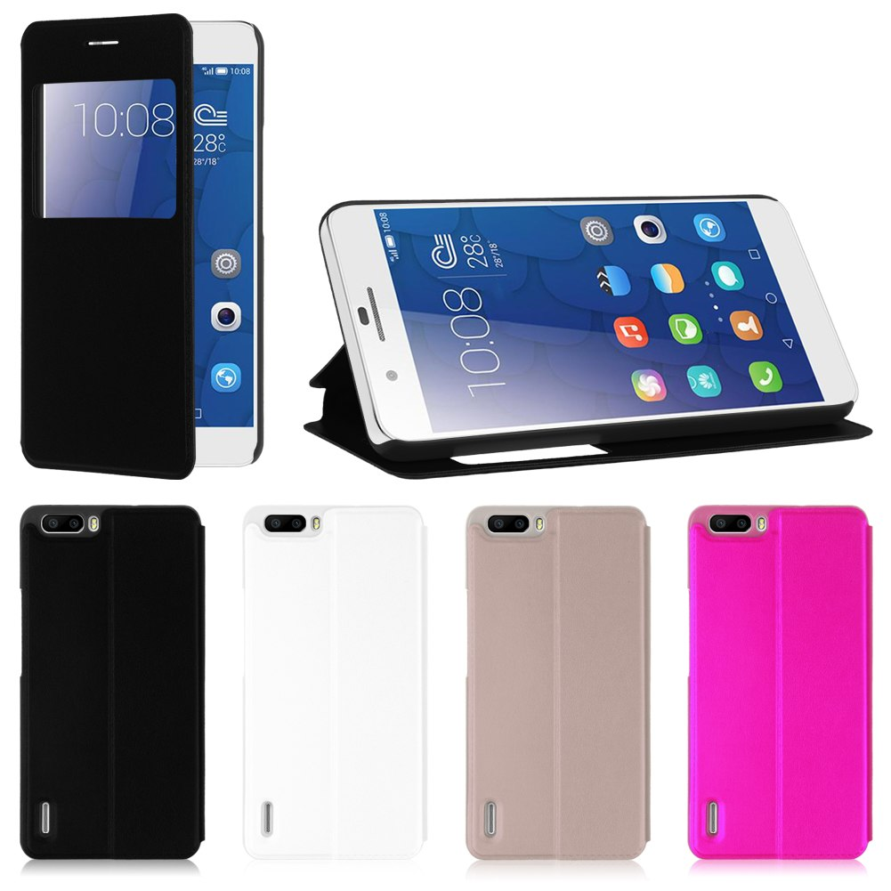 Slim etui housse coque flip cover pochette pour huawei for Housse honor 6x