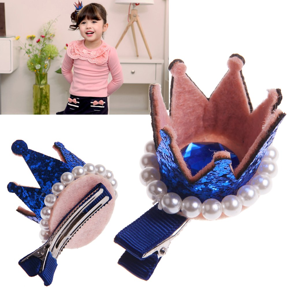 Hair accessories for babies ebay - Kid Baby Girls Princess Crown Pearl Clip Hair