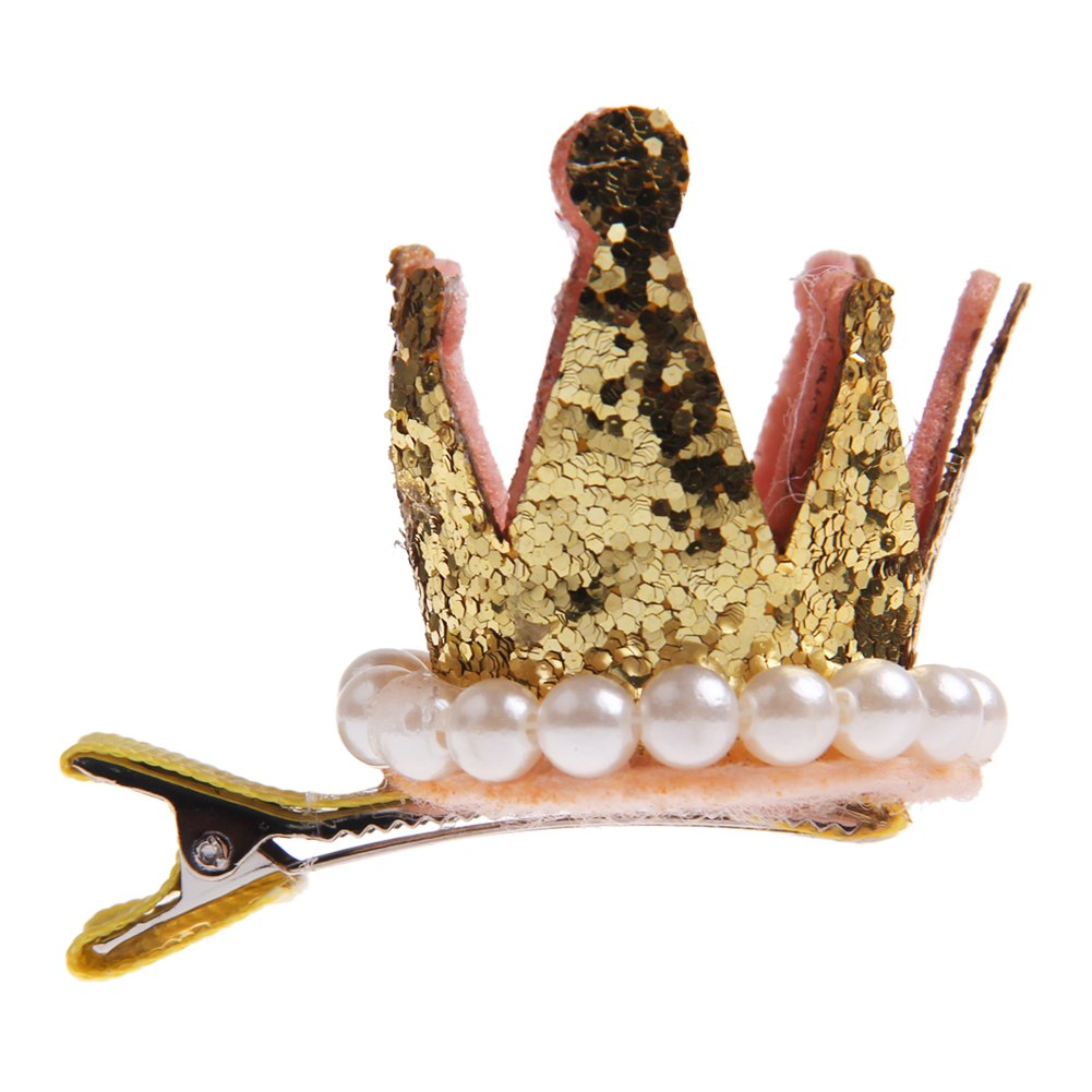 Fashion-Jewelry-Baby-Girl-Hair-Accessory-Princess-Pearl-Crown-Hair-Clip-Hairpin