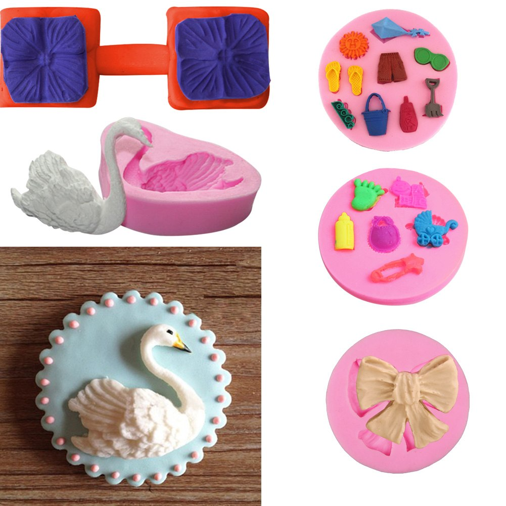 Fondant Cake Molds Uk : Silicone Fondant Mould Cake Decorating Chocolate Baking ...