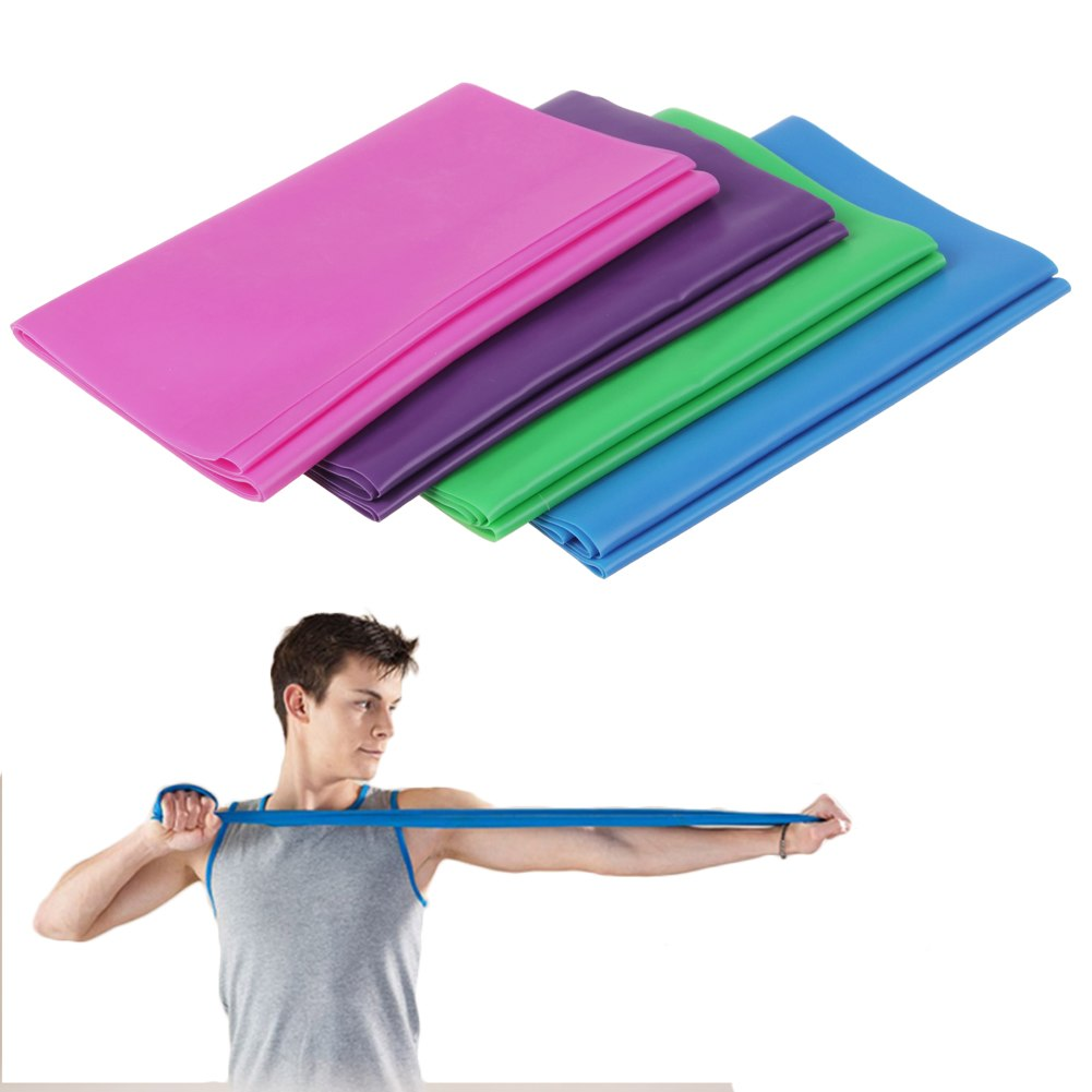 1.2m Stretch Resistance Bands Exercise Pilates Yoga GYM