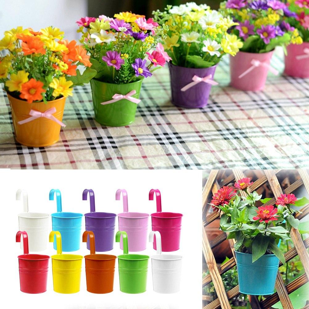 pot de fleur avec accroche color fer jardin mariage d coration plante. Black Bedroom Furniture Sets. Home Design Ideas