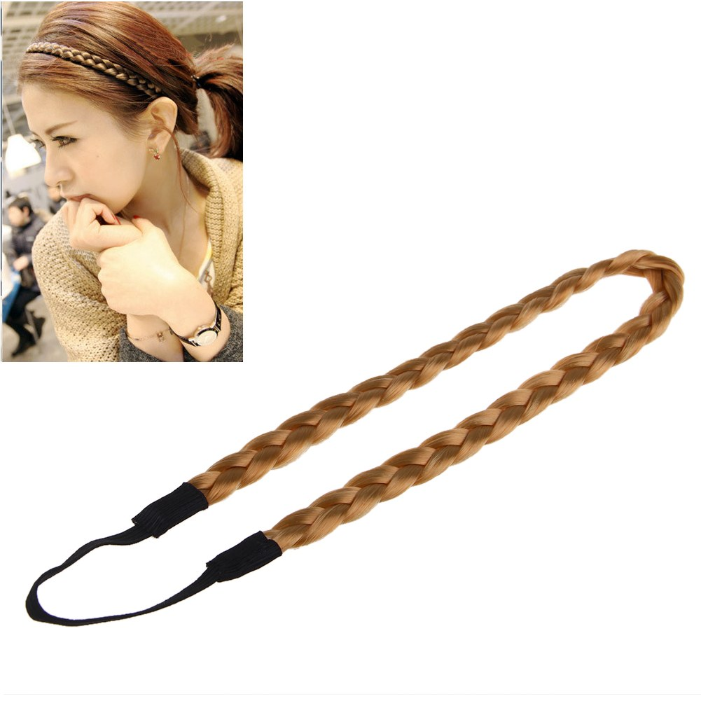 New Synthetic Hair Band Plaited Plait Elastic Bohemia Braids Headband Hairband