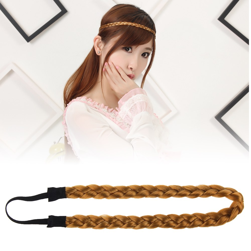 201504: Stylish Girl Women Synthetic Hair Band Plaited Elastic