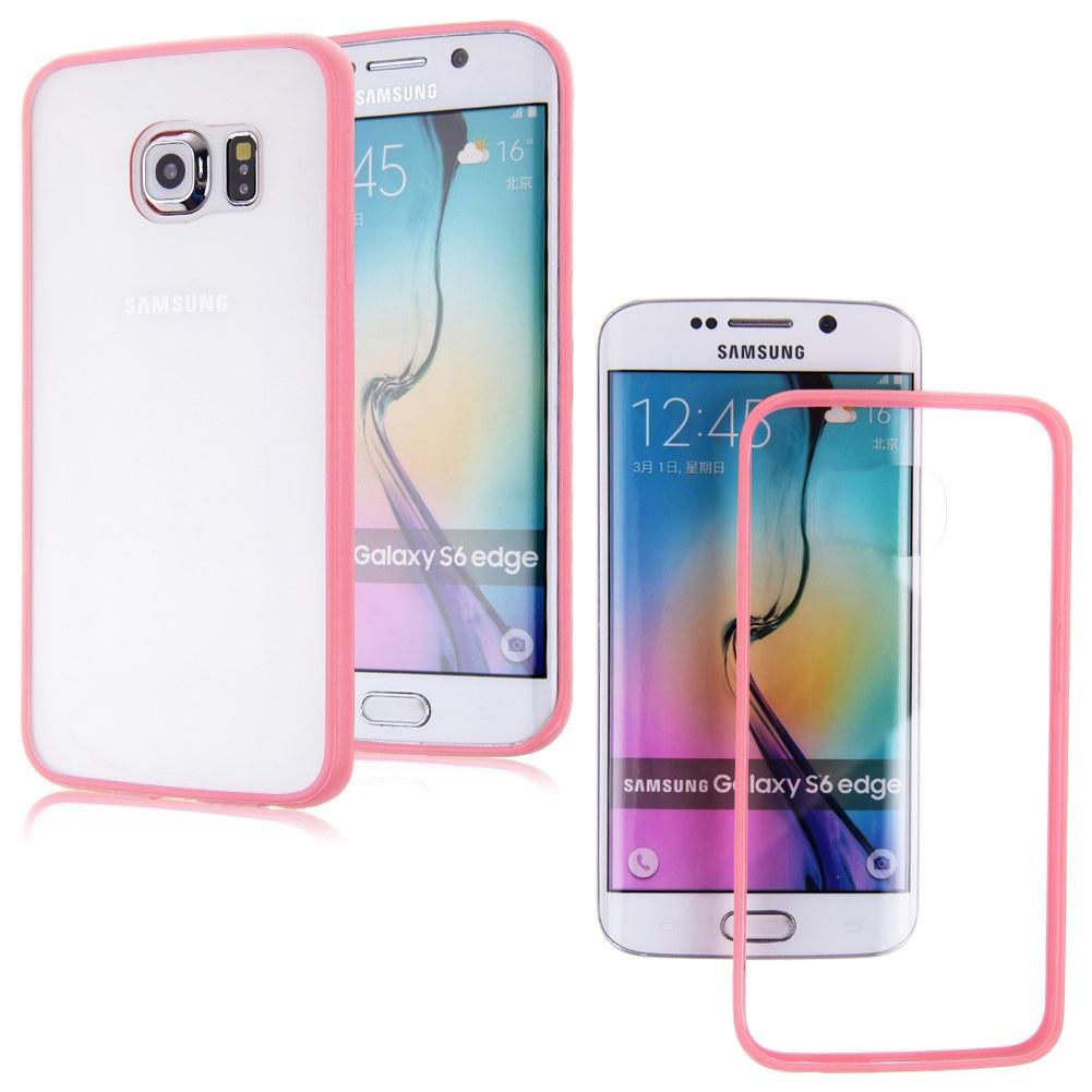 Hard Plastic Clear Hybrid Soft TPU Bumper Case Cover For Samsung Galaxy S6 Edge