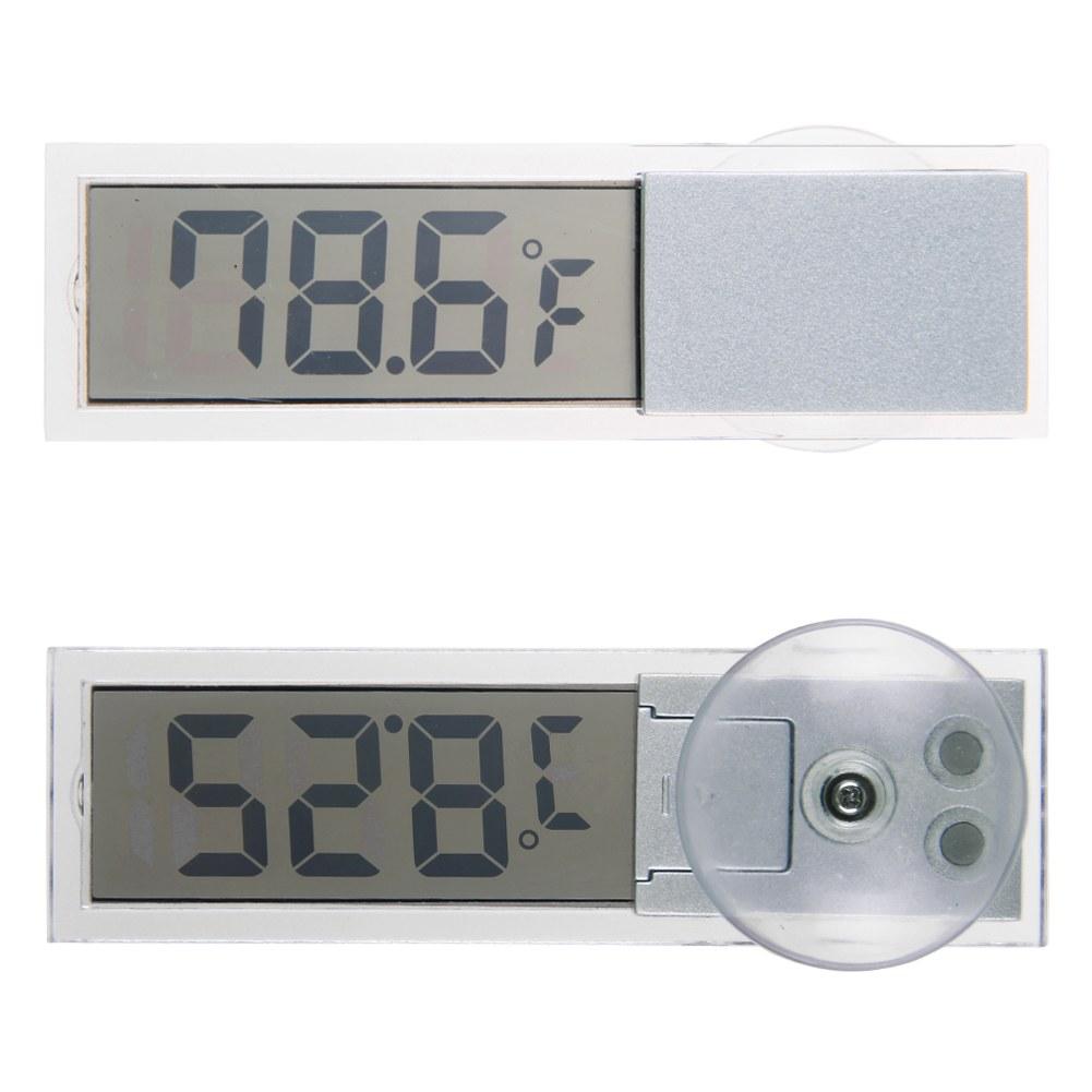 clear car lcd digital display room temperature meter car. Black Bedroom Furniture Sets. Home Design Ideas