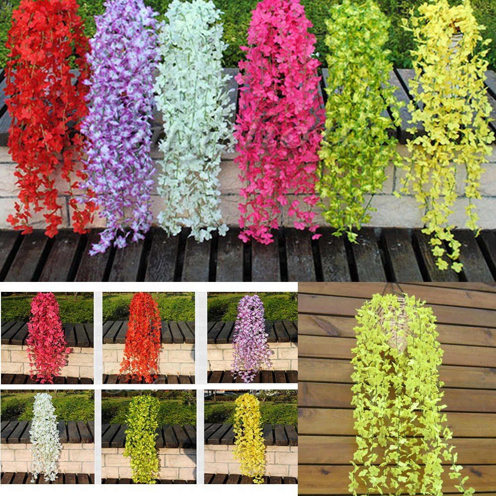 Artificial Fake Silk Flower Ivy Vine Hanging Garland