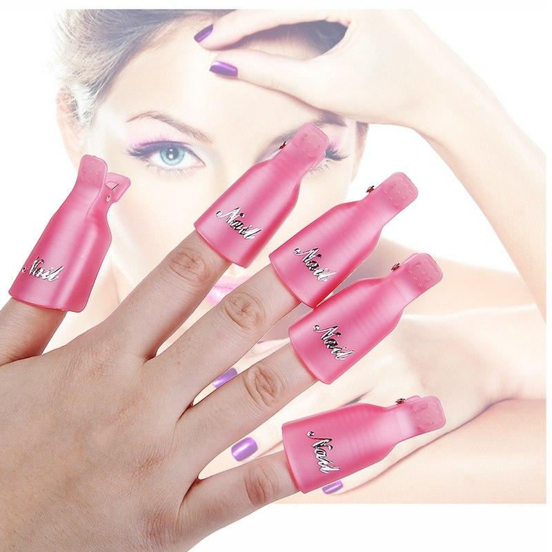 10Pcs Acrylique Soak Off Clip Cap UV Gel Polish Remover Ongle Manucure Nail Art