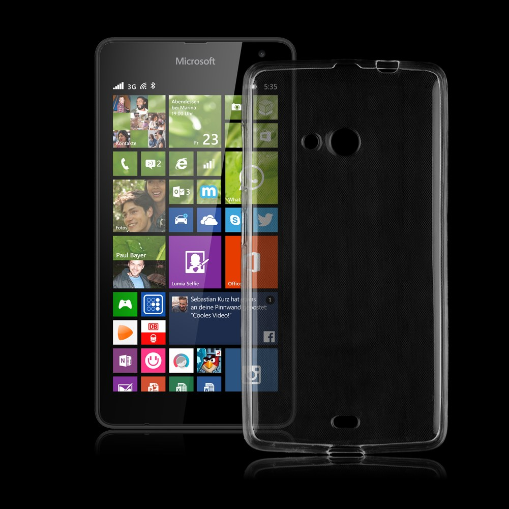 Slim Clear Soft Silicone TPU Back Cover Case For Microsoft ...