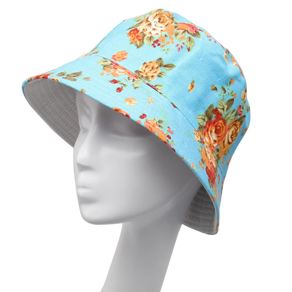 women flower bucket sun hats summer beach fishing camping
