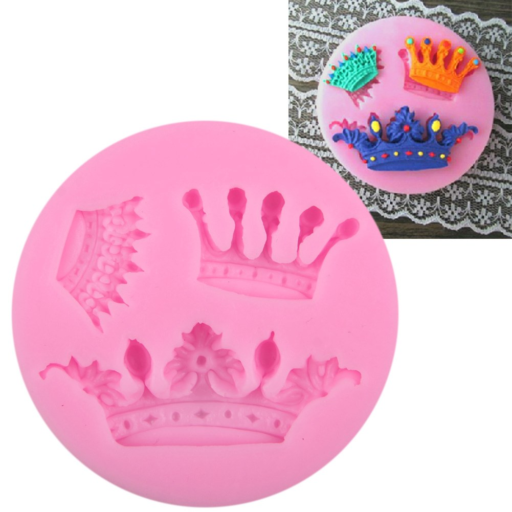 Cake Decoration Crown : 3D Crown Silicone Fondant Mold Cake Decorating Chocolate ...