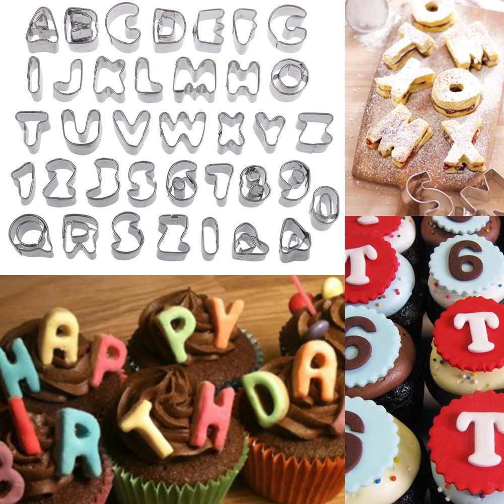 Cake Decorating Number Of Issues : 37 Pieces Alphabet Letter&Number Cake Decorating Set ...