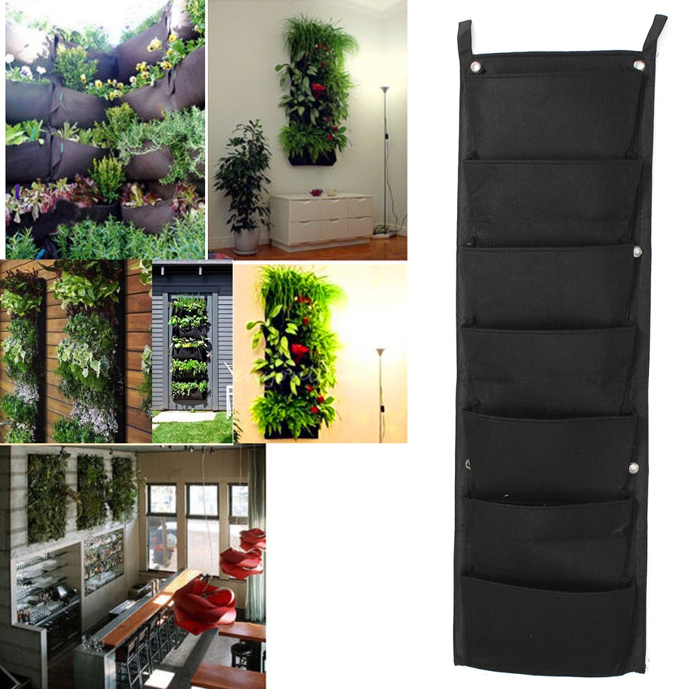 7 Pockets Indoor Outdoor Wall Balcony Herbs Vertical