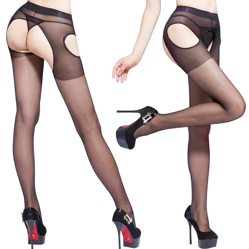Sexy New Women Open Crotch Crotchless Sheer Pantyhose Silk Stockings Tights