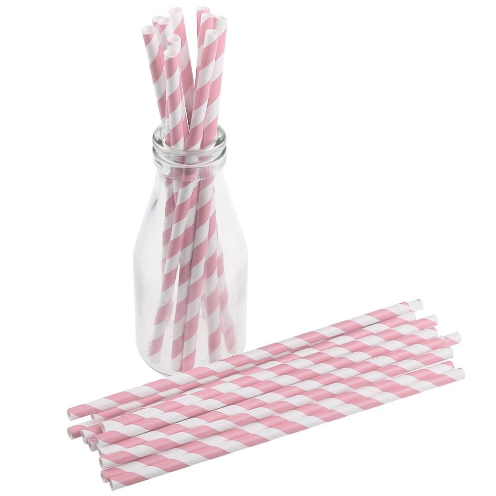 striped drinking straw