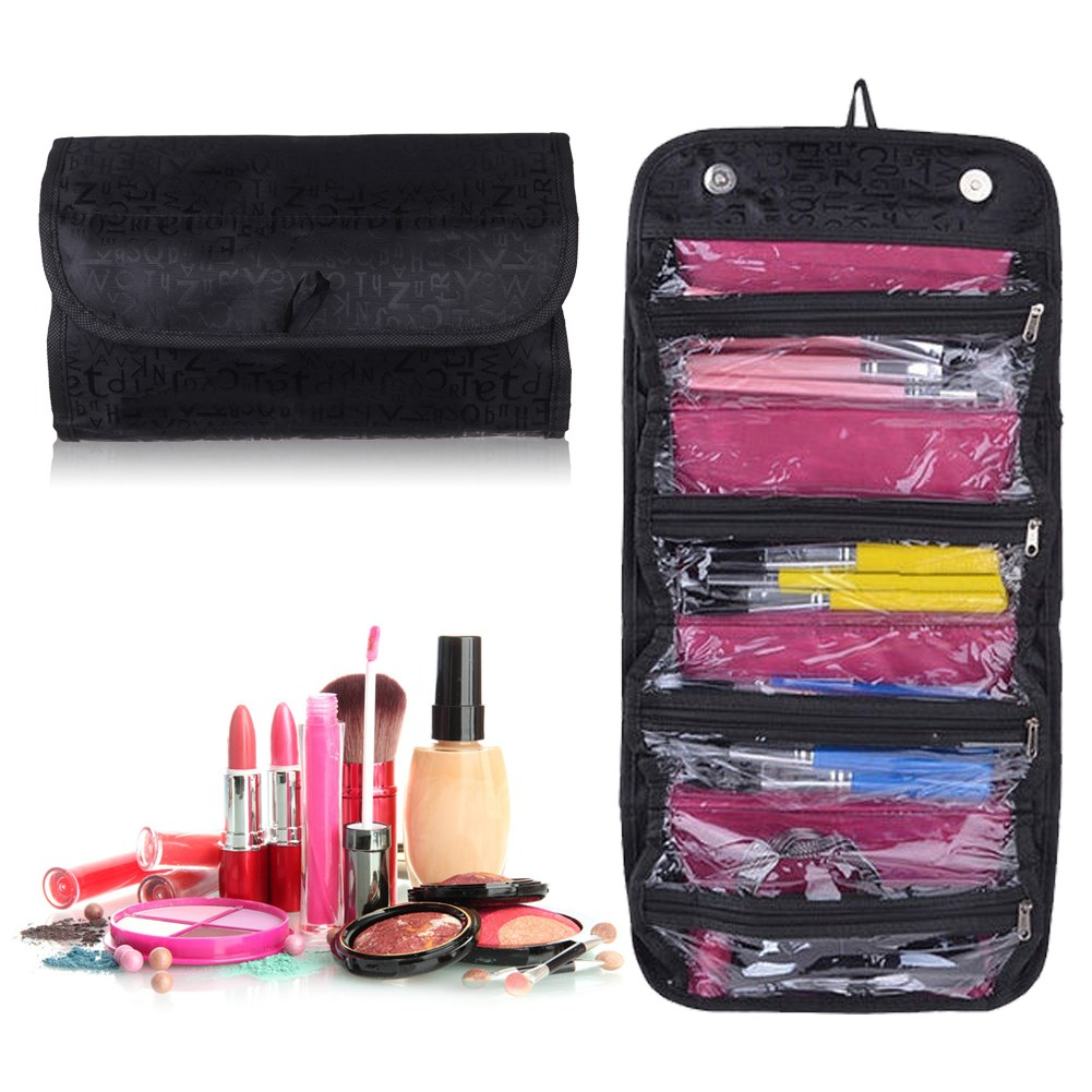 ... Hanging Travel Cosmetic Bag Makeup Case Pouch Toiletry Organizer