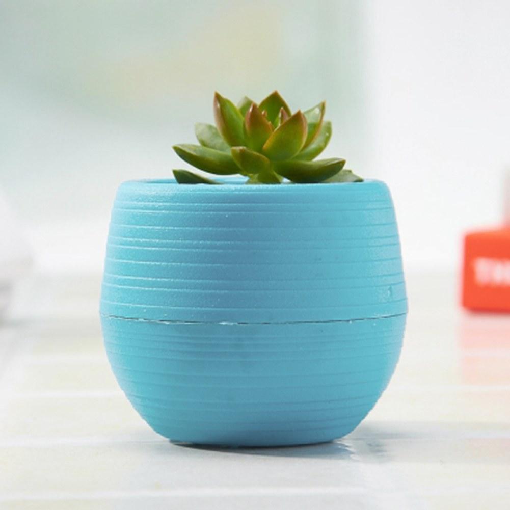 7cm colourful mini round plastic plant flower pot garden for Garden pot