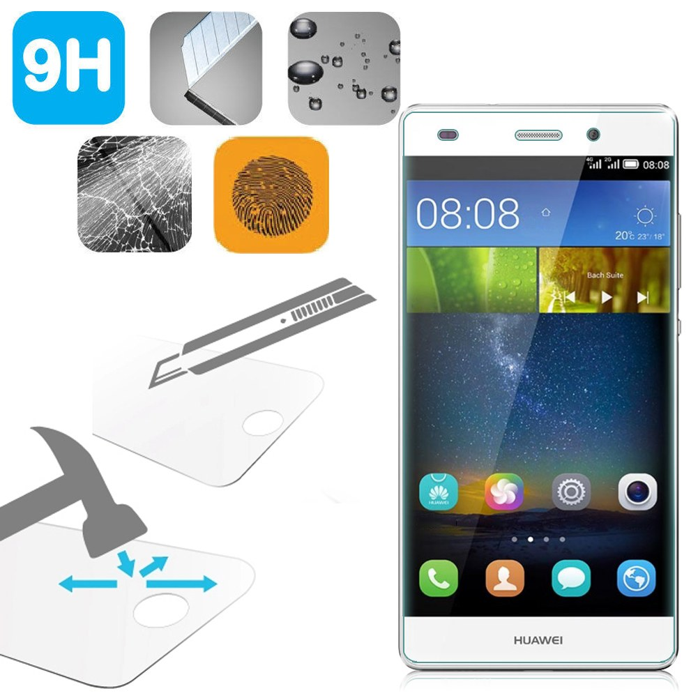 Tempered glass film verre tremp protecteur d 39 cran pour huawei ascend p8 - Verre trempe pour table ...