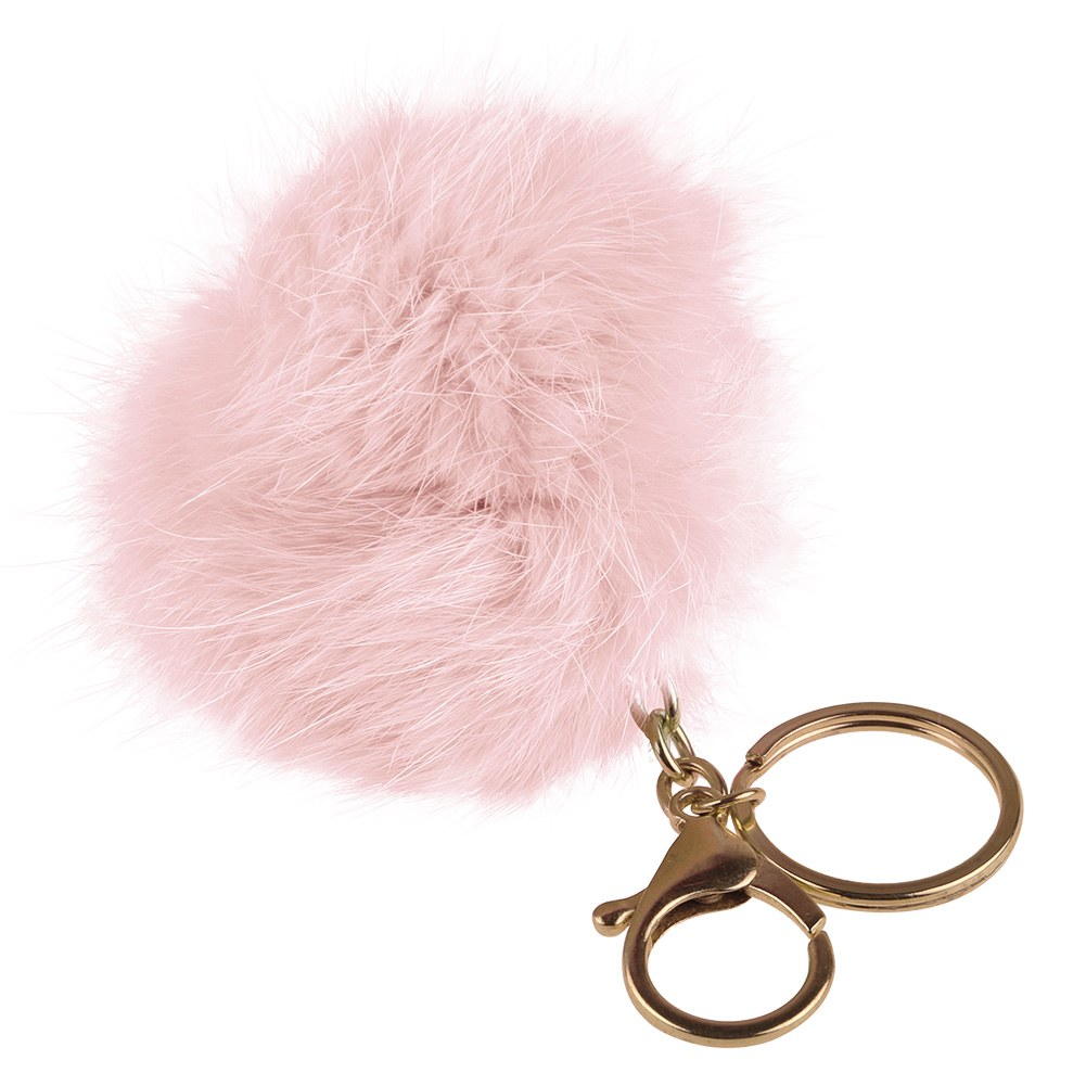 porte cl fourrure de lapin boule pendentif mobile sac phone accessoire femme ebay. Black Bedroom Furniture Sets. Home Design Ideas