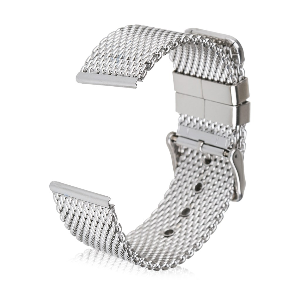Luxury Stainless Steel Mesh Watch Bands Hole Strap Fr Apple Watch ...