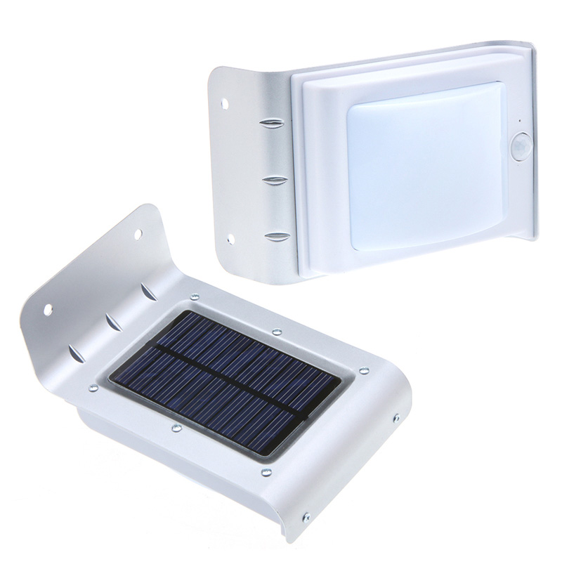 16 led solar lichtsensor lampe leuchte wandleuchte. Black Bedroom Furniture Sets. Home Design Ideas