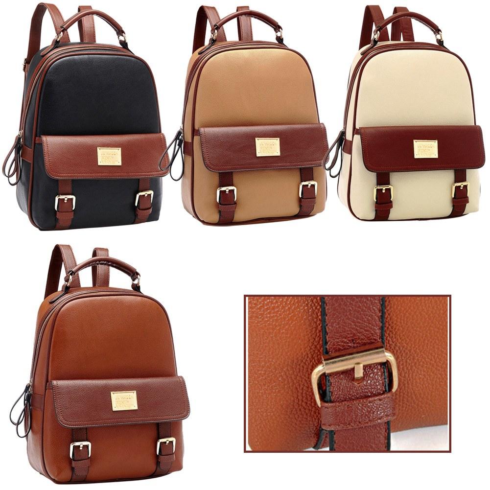 neue casual women damen rucksack tasche mode reisen schule pu leder handtasche ebay. Black Bedroom Furniture Sets. Home Design Ideas