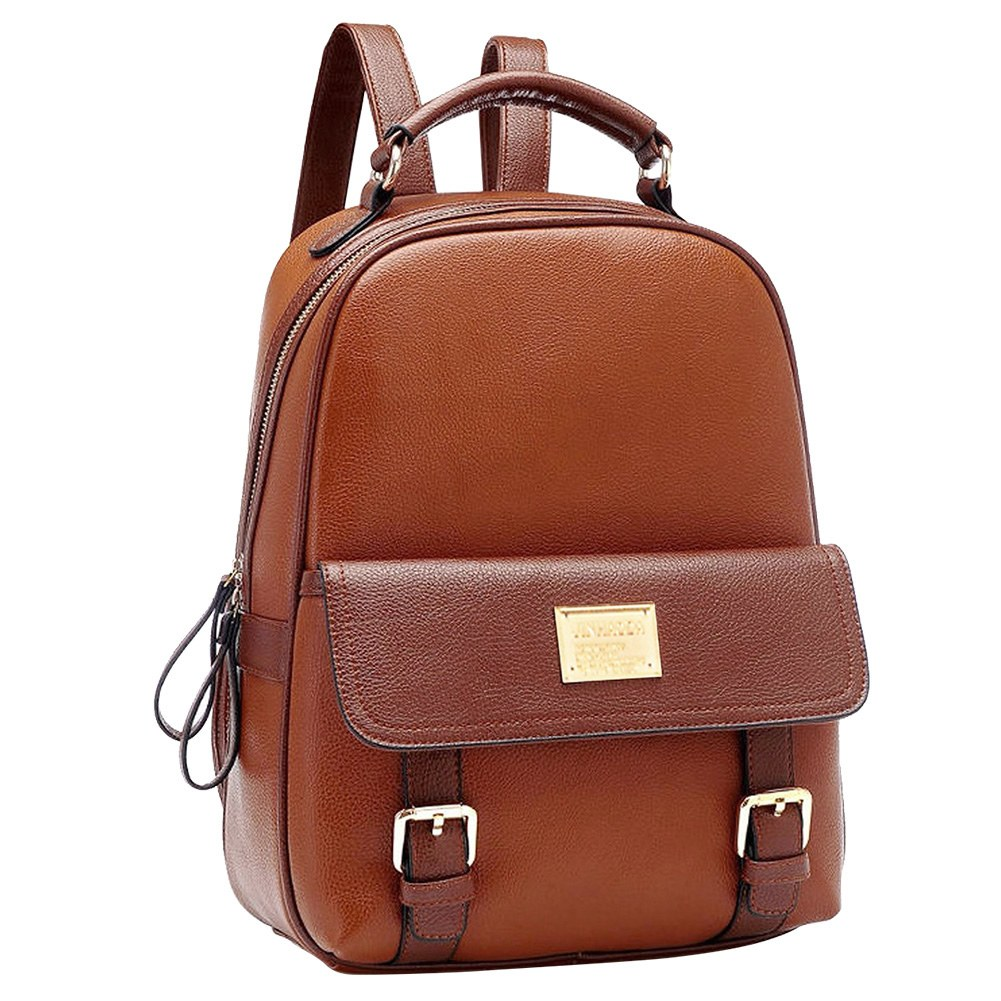 Fashion Vintage Women PU Leather Backpack School Bags Satchel Rucksack Handbag
