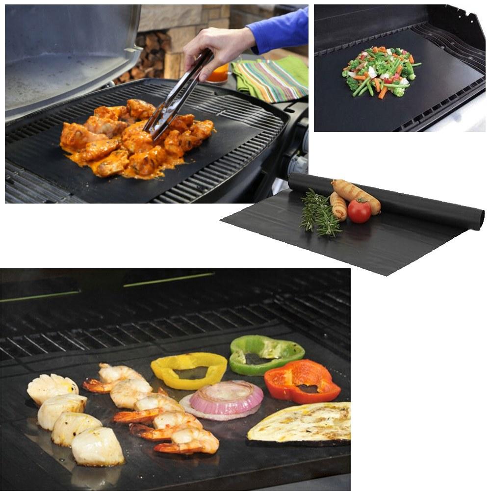 1pcs Non-stick BBQ Grill Mat Barbecue Baking Liner Teflon