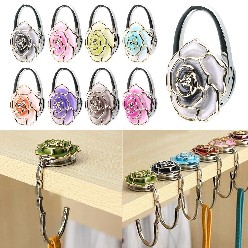 48mm foldable handbag purse tote bag table hanger hook for Hooks to hang purses