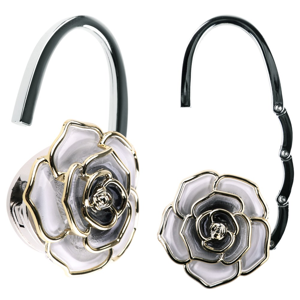 New rose shaped foldable handbag purse tote bag table for Hooks to hang purses