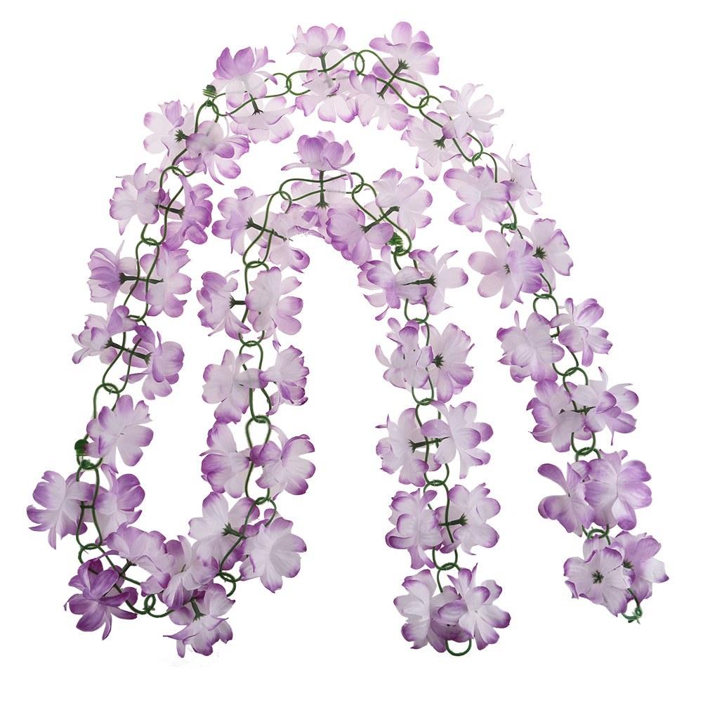 artificial fake silk azalea flower vine hanging garland wedding party home decor ebay. Black Bedroom Furniture Sets. Home Design Ideas