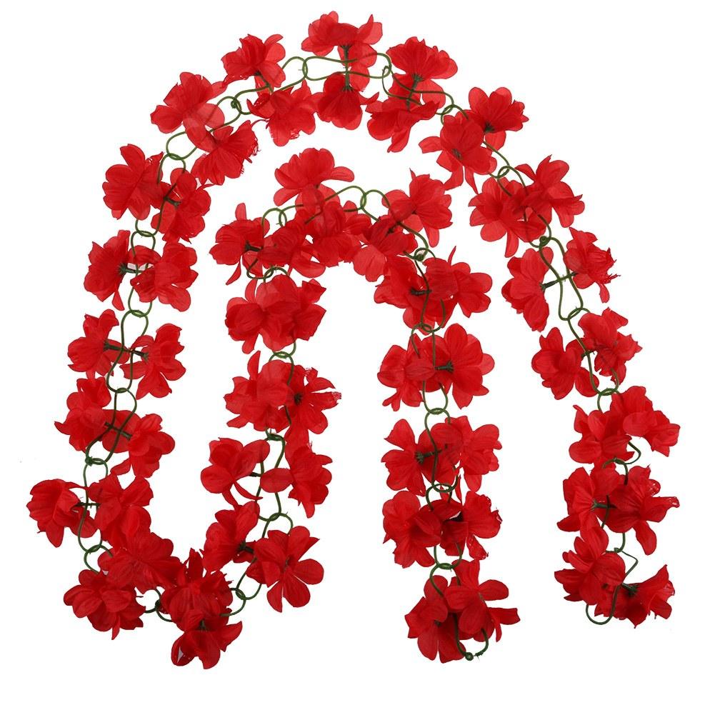Artificial Fake Silk Azalea Flower Vine Hanging Garland Wedding PARTY HOME Decor