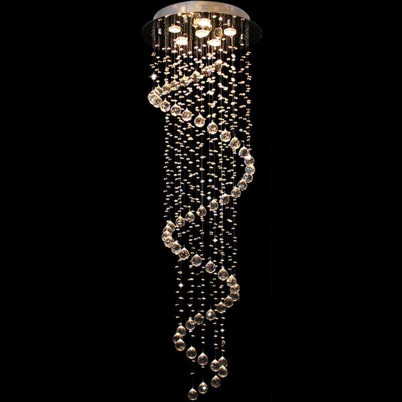 spiral regen tropfen kristall kronleuchter h ngeleuchte lampe deckenleuchte neu ebay. Black Bedroom Furniture Sets. Home Design Ideas