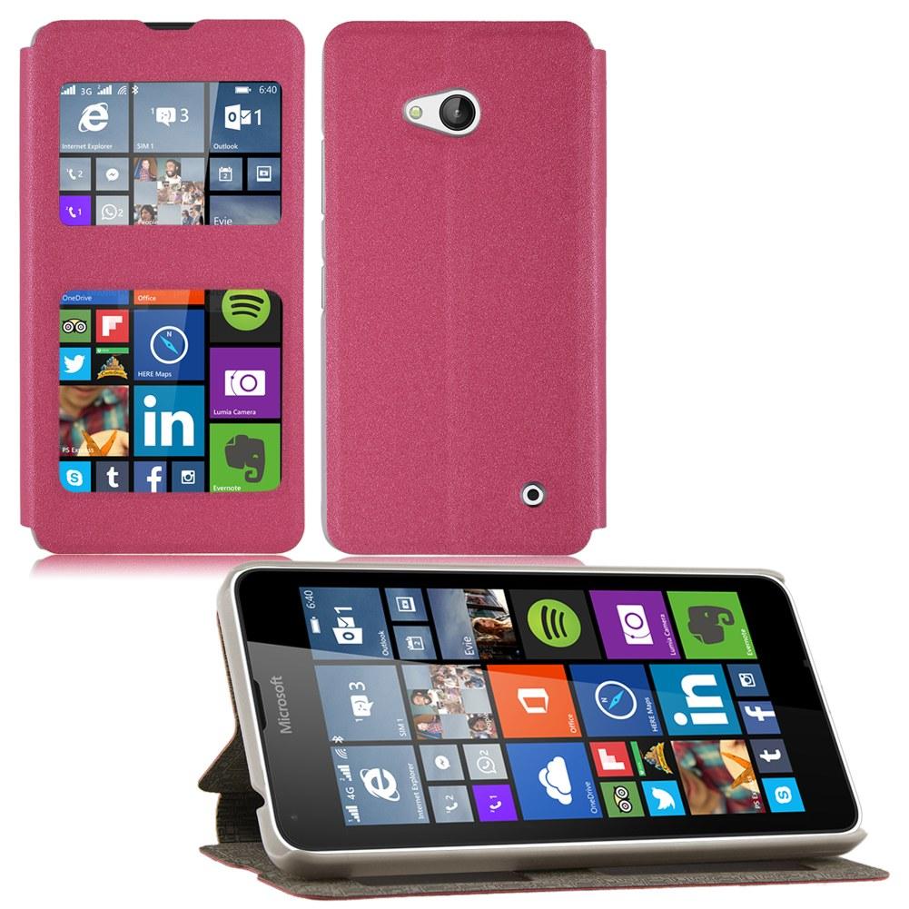Housse etui coque pour microsoft lumia 640 640xl flip view for Housse lumia 640