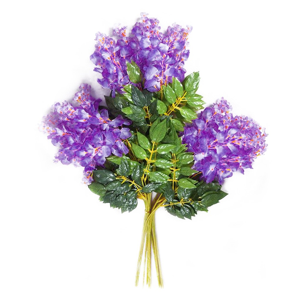 Artificial silk wisteria fake garden hanging flower vine for Artificial flower for decoration