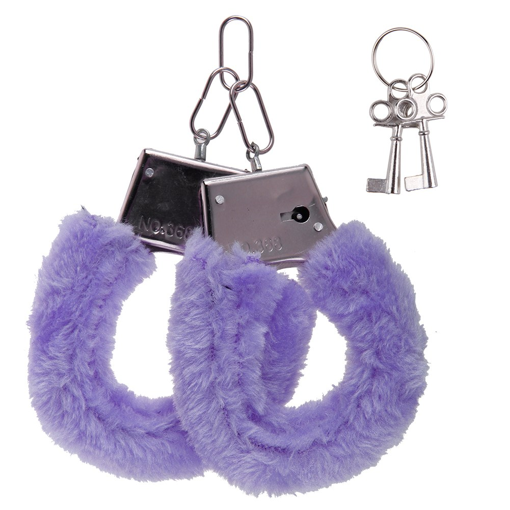 Furry Cuffs Sexy Love Hand Adult Party Handcuffs Fuzzy Fur Adult Sex Toy