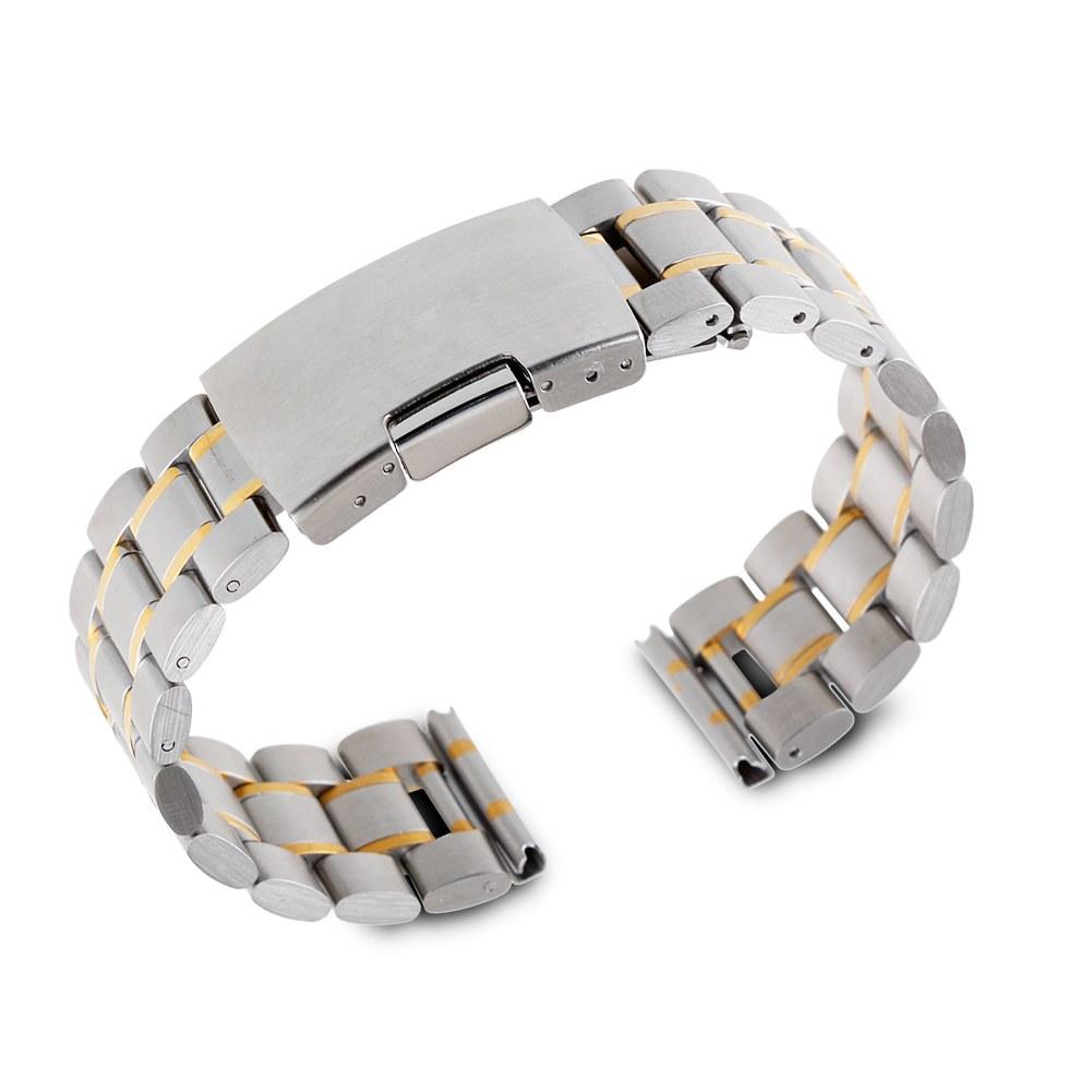 22mm Stainless Steel Watch Band Strap LG G Watch R Pebble Urbane Samsung Gear 2