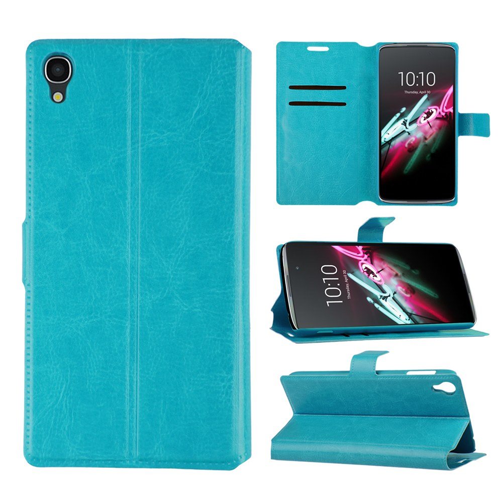 Magnetic flip leather case stand cover for alcatel one