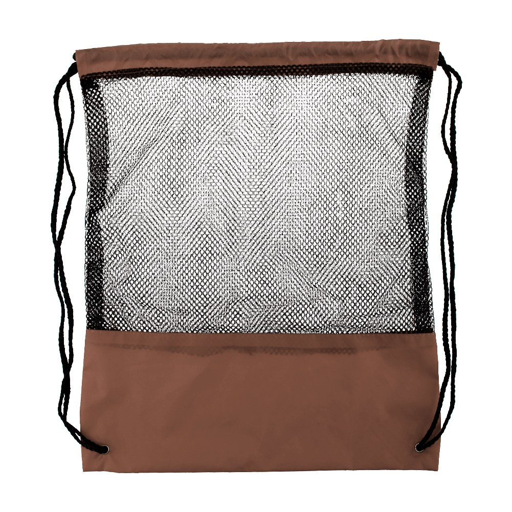 Mesh drawstring backpack tote sport pack swimming shopping for Pack swimming