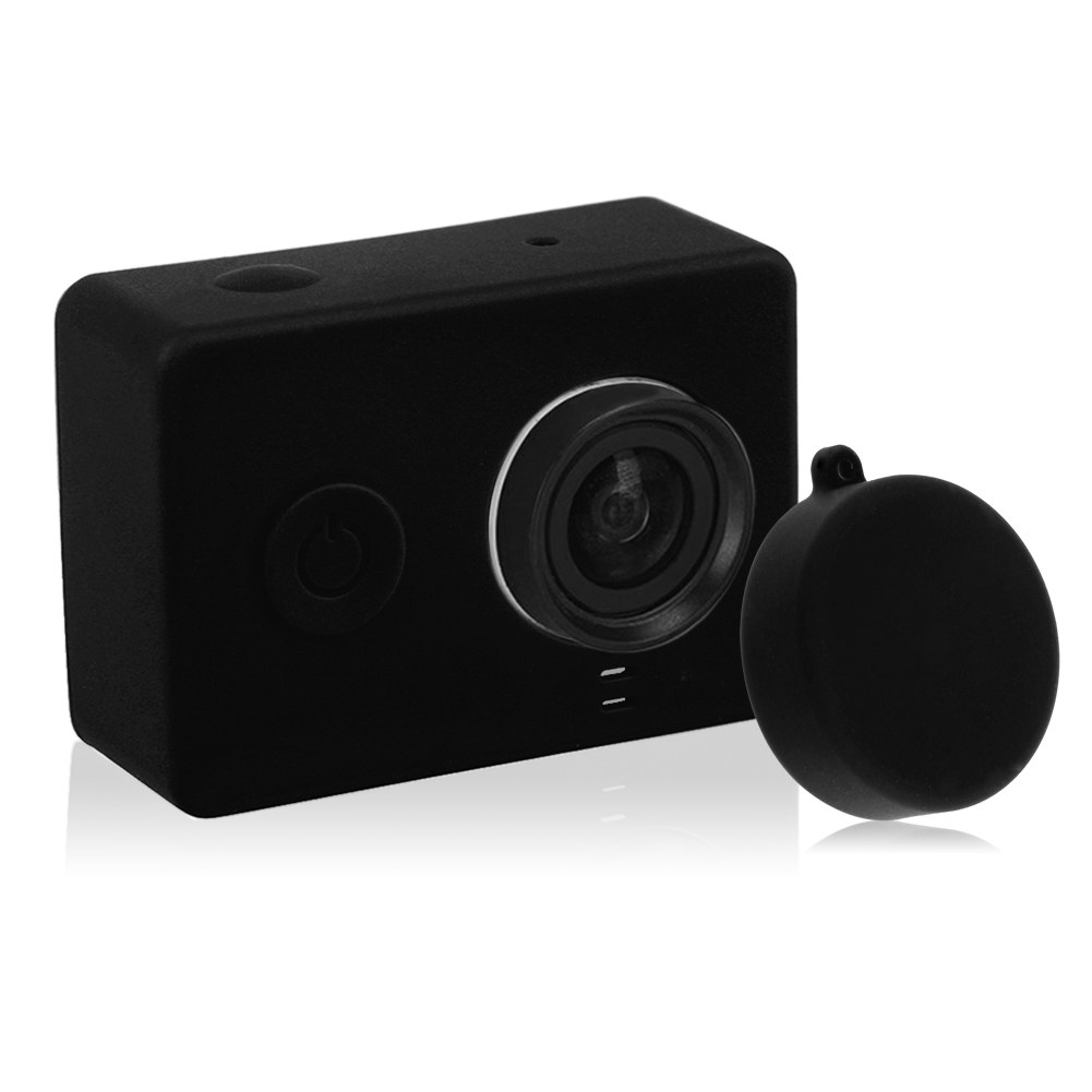 Silicone Case Cover Skin For Xiaomi Xiao Yi Action Sport Camera + Lens Cover Cap