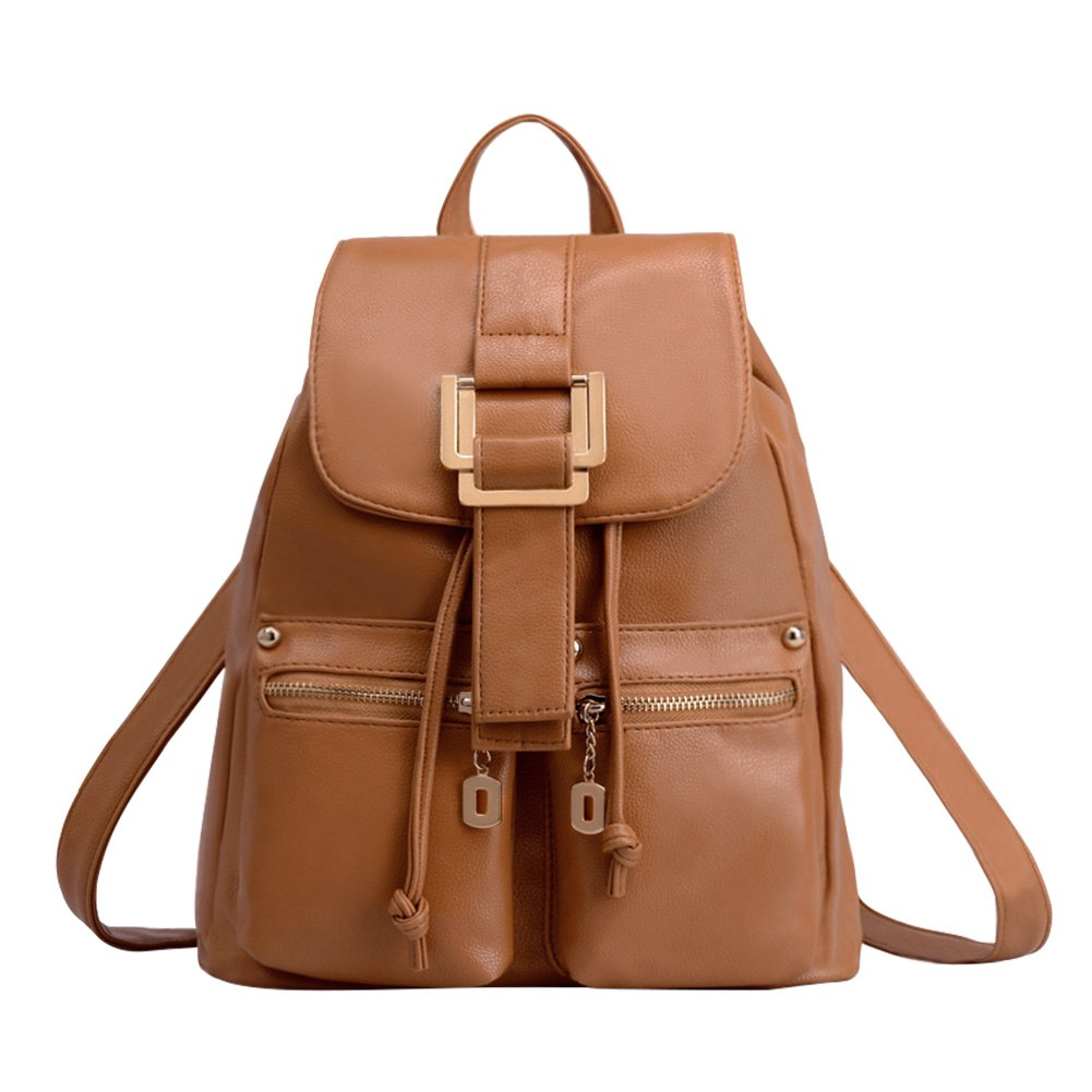 Fashion Leather Backpack Womens