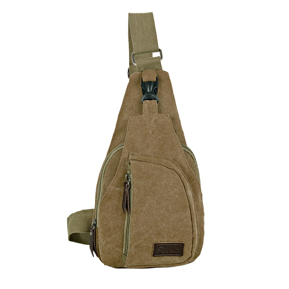 Men's Military Canvas Satchel Shoulder Bag Messenger Bag Travel ...