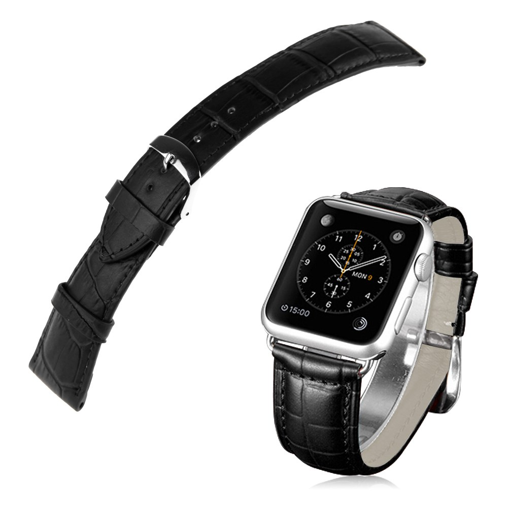 Leather Watch Band Strap +Classic Buckle+Tool for Apple ...