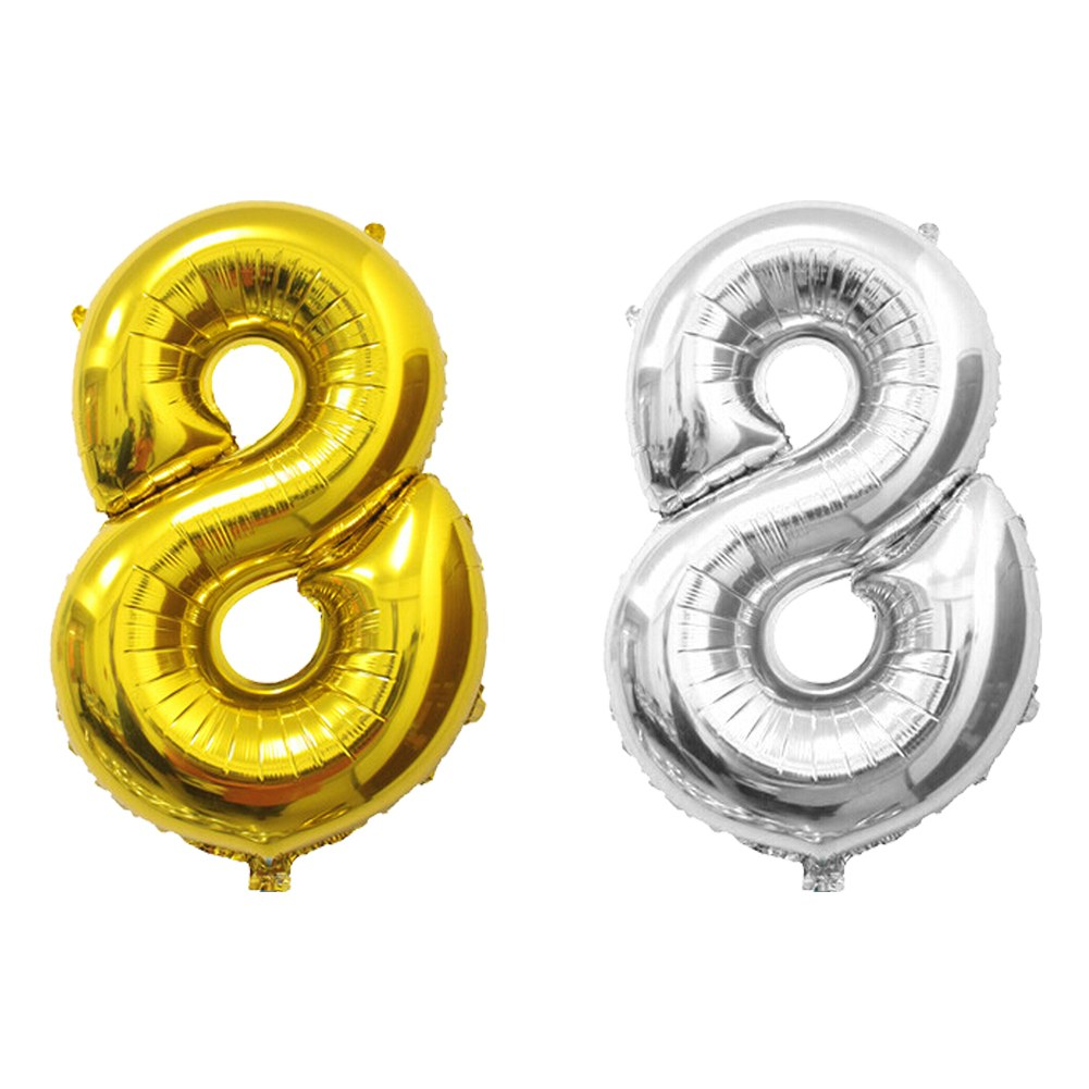 16 40gold Silver Large Foil Letter Number Balloons Birthday Wedding Baloon 40 034 Gold