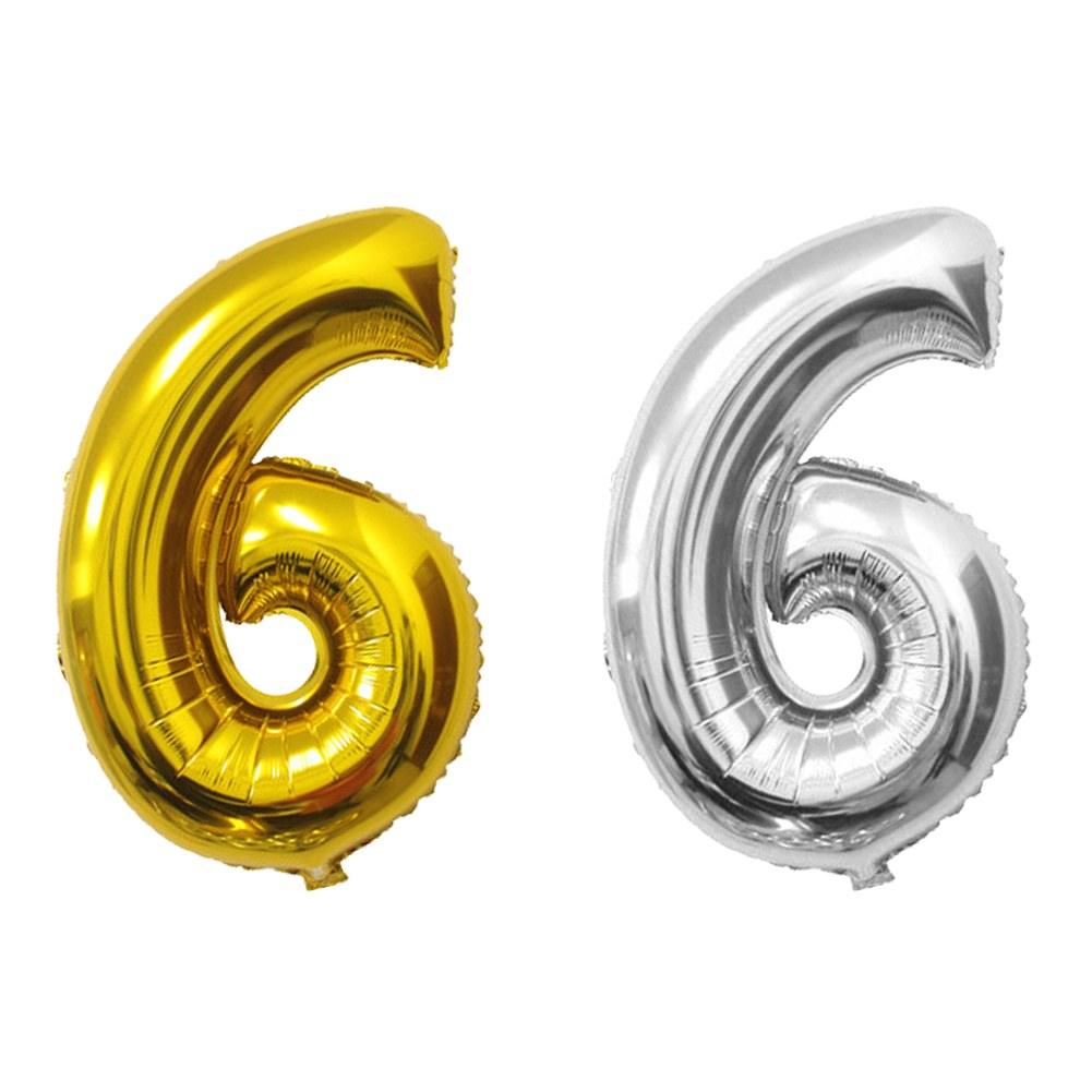 """Silver And Gold Leters: Gold/Silver Foil 16/40"""" Letter Number Balloons Birthday"""