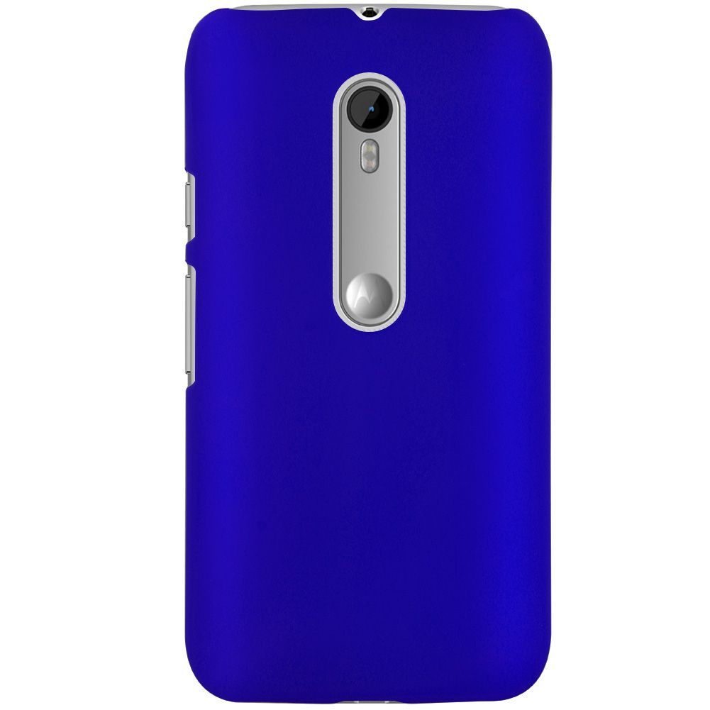 Hard Rubberized Matte Plastic Back Case Cover For Motorola ...