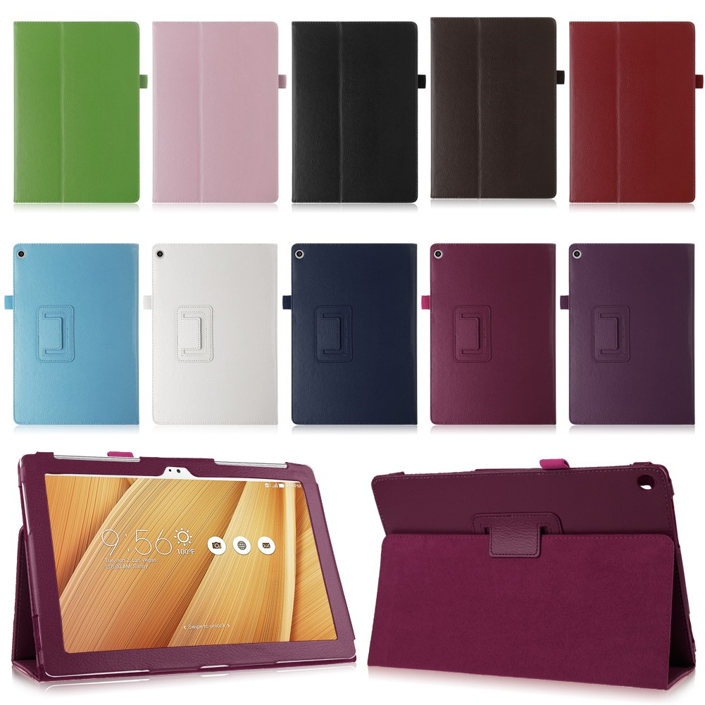 Folding Magnetic Leather Case Folio Cover Stand For Asus